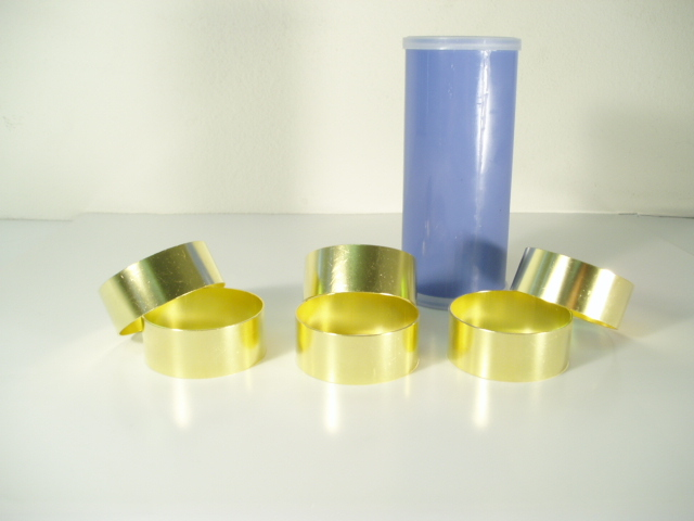 "2.5"" x 1"" Brass Sample Liners"