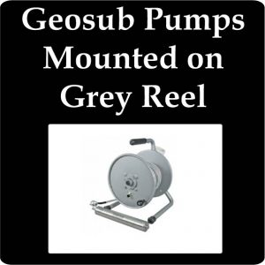 Geosub Pump & Wire Mounted on Small Grey Real